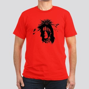 American Indian with Painted Face Men's Fitted T-S