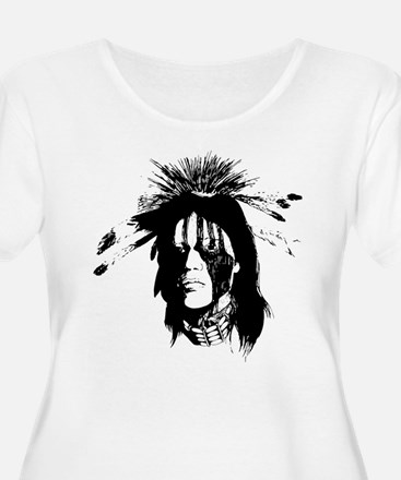 American Indian with Painted Face T-Shirt