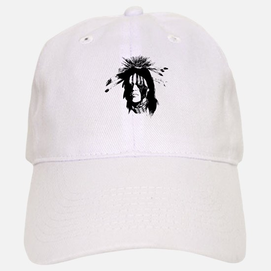 American Indian with Painted Face Baseball Baseball Cap