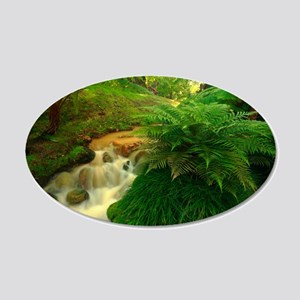 Stream in the forest Wall Decal