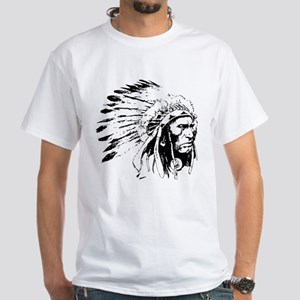 Native American Chieftain White T-Shirt