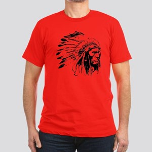 Native American Chieftain Men's Fitted T-Shirt (da
