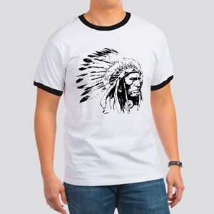 Native American Chieftain Ringer T