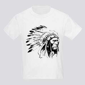 Native American Chieftain Kids Light T-Shirt