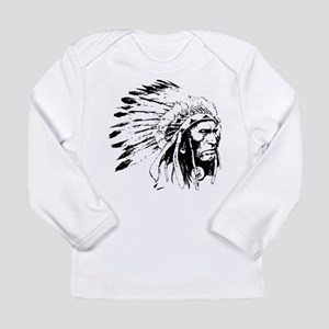 Native American Chieftain Long Sleeve Infant T-Shi