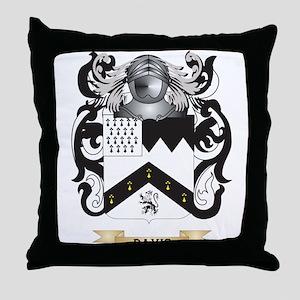 Davis Coat of Arms Throw Pillow