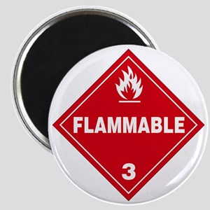 Red Flammable Warning Sign Magnet
