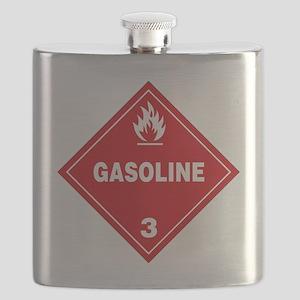 Gasoline Red Warning Sign Flask