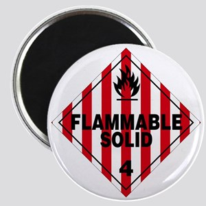 Flammable Solid Warning Sign Magnet