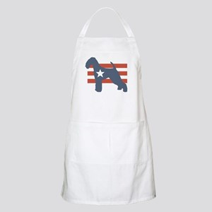 Patriotic Airedale Terrier BBQ Apron
