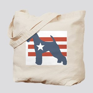 Patriotic Airedale Terrier Tote Bag
