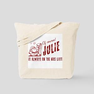 Nice List Julie Christmas Tote Bag