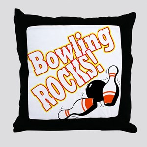 Bowling Rocks! Throw Pillow