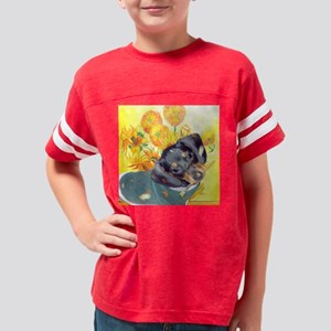 artist dachshund dog Youth Football Shirt
