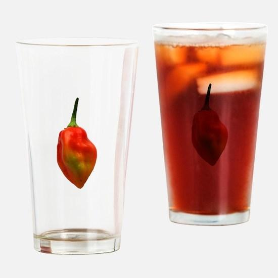 Habernero Single Pepper Photograph Drinking Glass