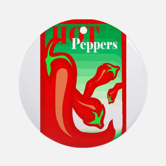 Hot peppers graphic red Ornament (Round)