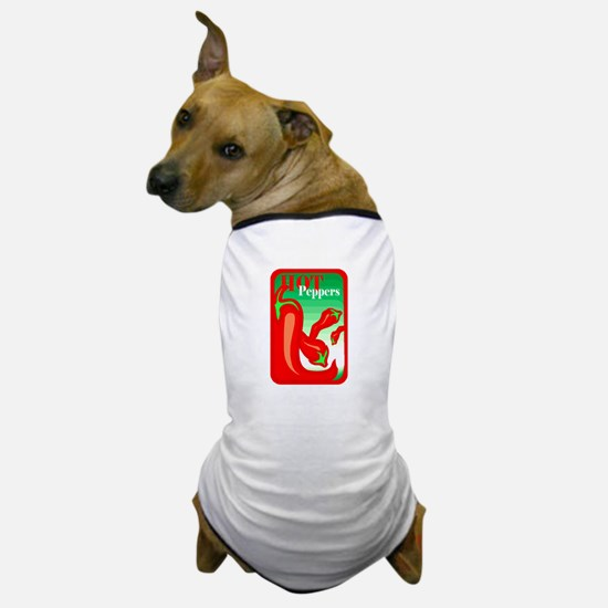 Hot peppers graphic red Dog T-Shirt