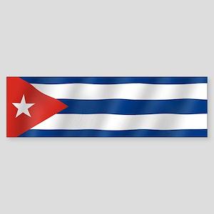 Pure Flag of Cuba Bumper Sticker