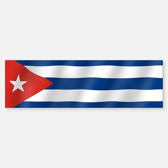 Pure Flag of Cuba Bumper Bumper Bumper Sticker
