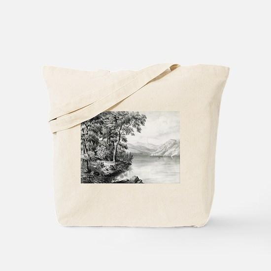 View on Lake George NY - 1866 Tote Bag