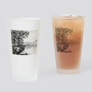 View on Lake George NY - 1866 Drinking Glass