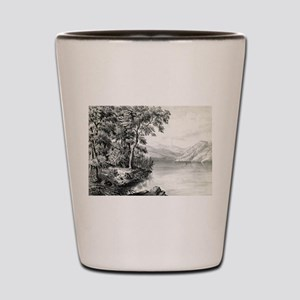 View on Lake George NY - 1866 Shot Glass