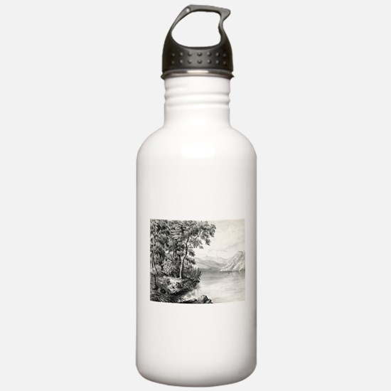 View on Lake George NY - 1866 Water Bottle