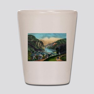 View of Harpers Ferry, Va. - 1907 Shot Glass