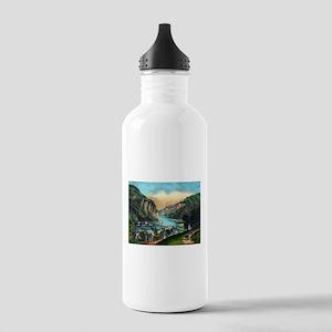 View of Harpers Ferry, Va. - 1907 Water Bottle
