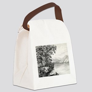 View on Lake George NY - 1866 Canvas Lunch Bag