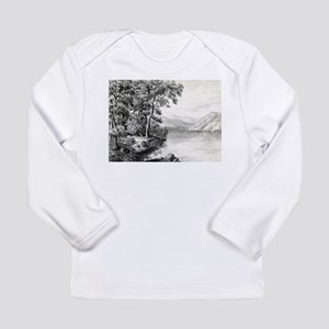 View on Lake George NY - 1866 Long Sleeve Infant T