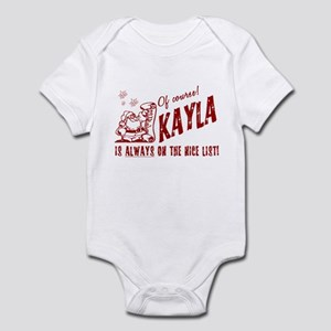 Nice List Kayla Christmas Infant Bodysuit