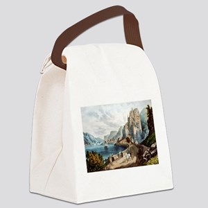 View on the Rhine - 1856 Canvas Lunch Bag