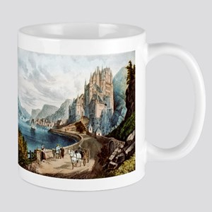 View on the Rhine - 1856 11 oz Ceramic Mug