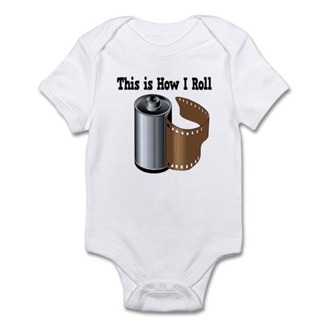 How I Roll (Camera Film) Infant Bodysuit