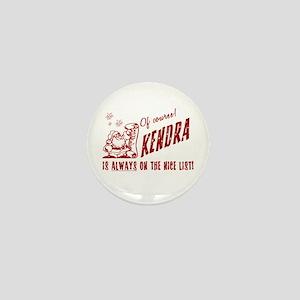 Nice List Kendra Christmas Mini Button