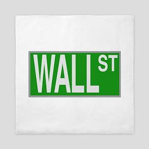 Wall Street Sign Queen Duvet
