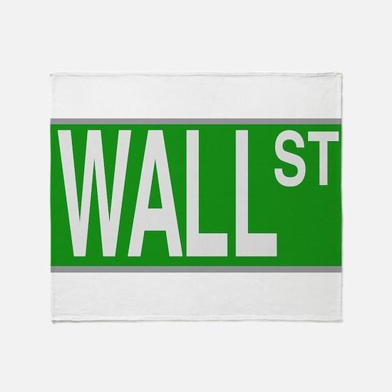 Wall Street Sign Throw Blanket