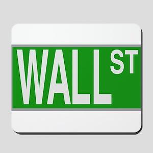 Wall Street Sign Mousepad