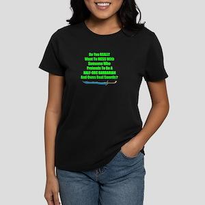 Pretend Half-orc barbarian wi Women's Dark T-Shirt
