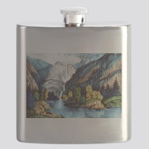 Yo-semite Falls California - 1856 Flask