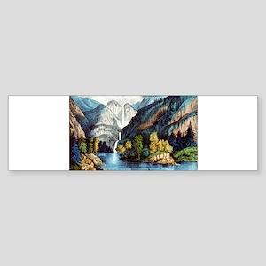 Yo-semite Falls California - 1856 Sticker (Bumper)