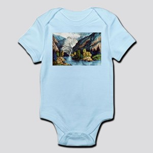 Yo-semite Falls California - 1856 Infant Bodysuit