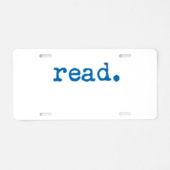 Read. Aluminum License Plate