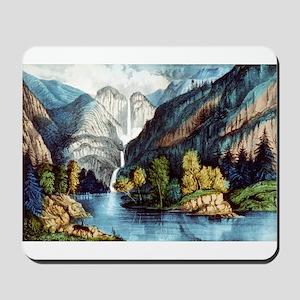 Yo-semite Falls California - 1856 Mousepad