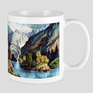 Yo-semite Falls California - 1856 11 oz Ceramic Mu