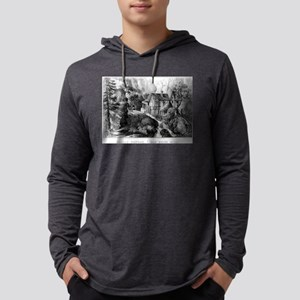 Old Swiss Mill - Puzzle Picture - 1872 Mens Hooded