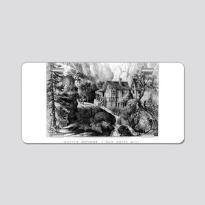 Old Swiss Mill - Puzzle Picture - 1872 Aluminum Li
