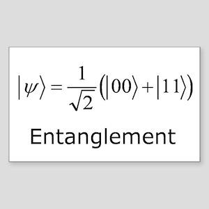 Entanglement Rectangle Sticker