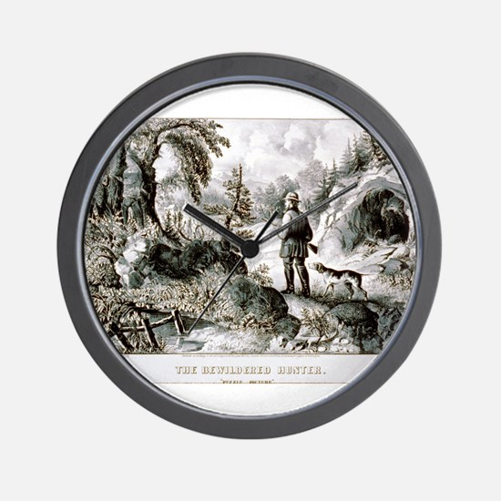 The bewildered hunter - Puzzle picture - 1872 Wall